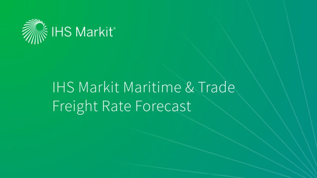 Freight Rate Forecast Video - Latest from Stuart Strachan, SVP, Maritime & Trade